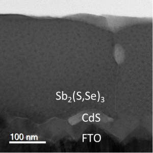 Hydrothermal deposition of antimony selenosulfide thin films enables solar cells with 10% efficiency